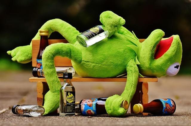 酔っ払ったカエル