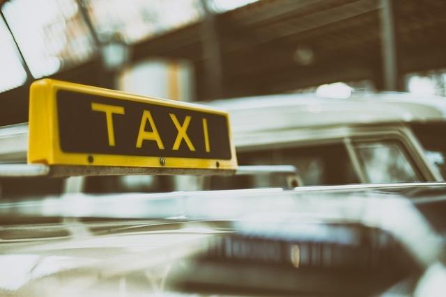 タクシーがある風景