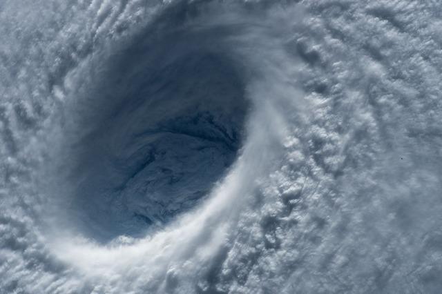 大きな台風