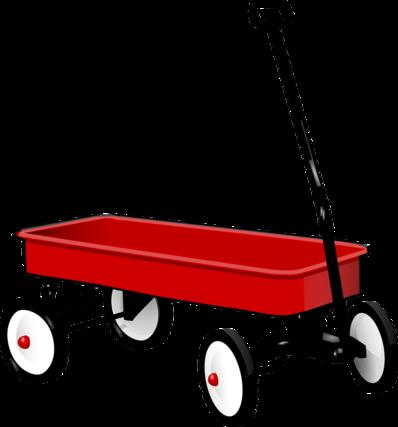 赤いワゴンカート