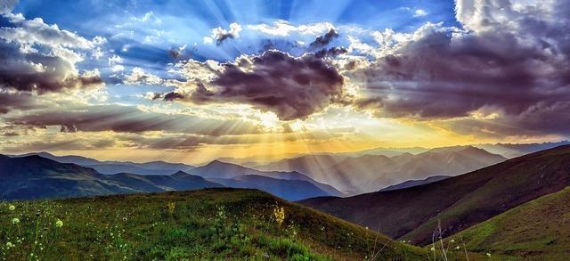 日が昇る瞬間