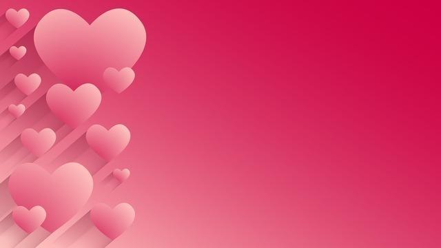 ストロベリーピンクのハート