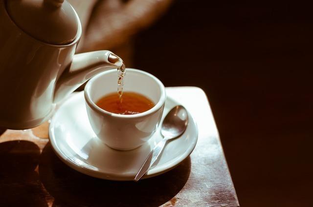 淹れたてのお茶