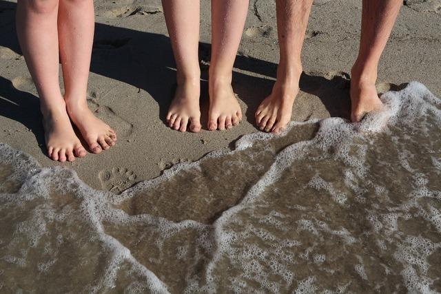 大人とあまり変わらないサイズの足