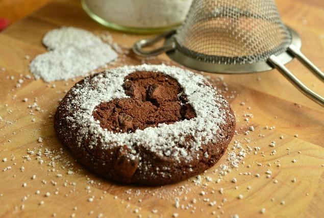 ハート模様のクッキー