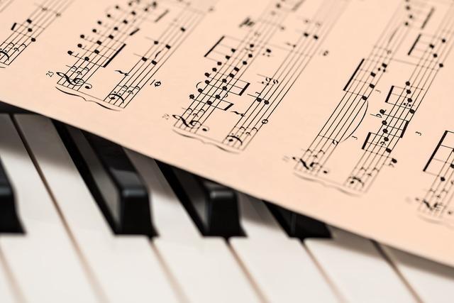 鍵盤と楽譜画像