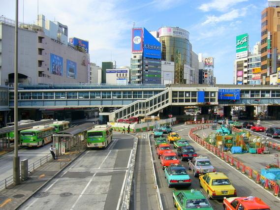 タクシー乗り場の風景