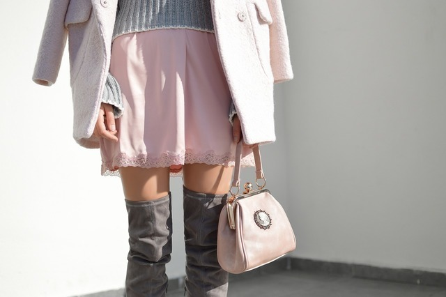 skirt in pink