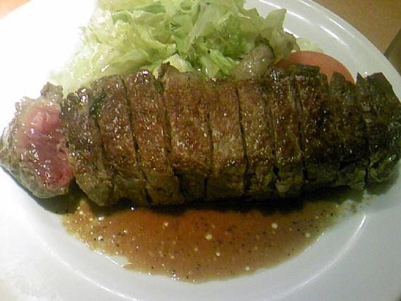 ステーキのプレート