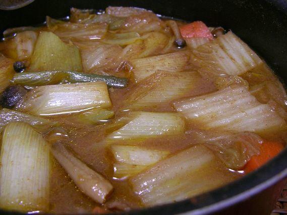 熱々のカレー鍋