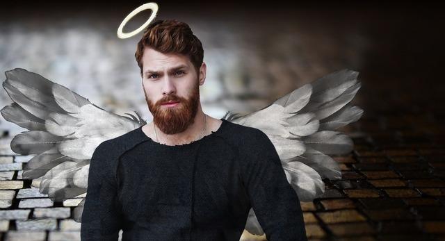 黒い男性の天使画像