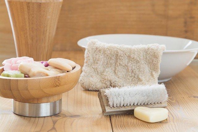 石鹸と洗面器