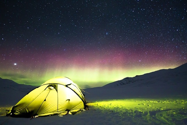 テントがある草原