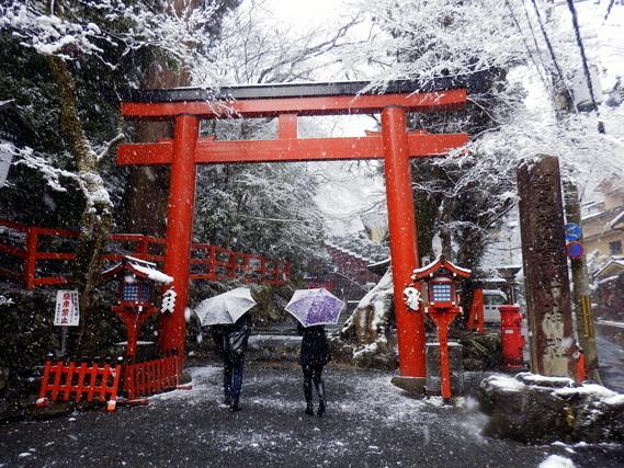 貴船神社 雪景色
