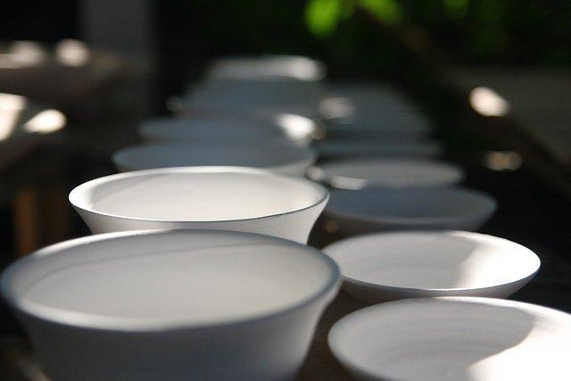 並んだ陶器