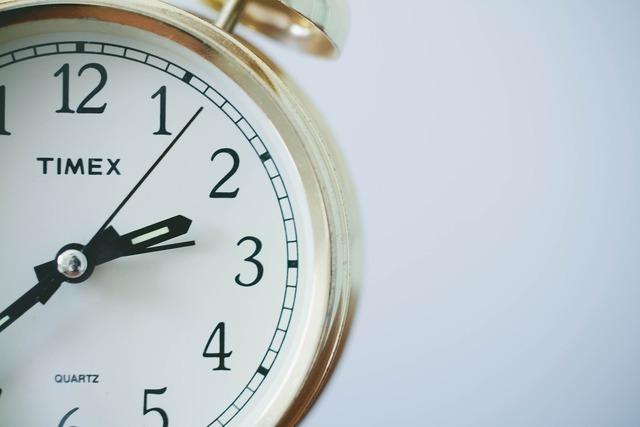 シンプルなデザインの時計