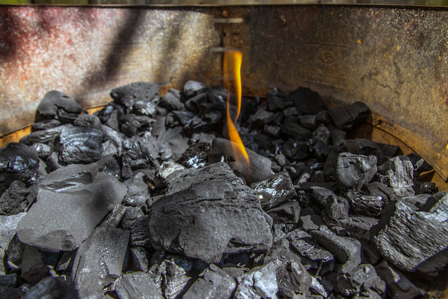 炭を入れる