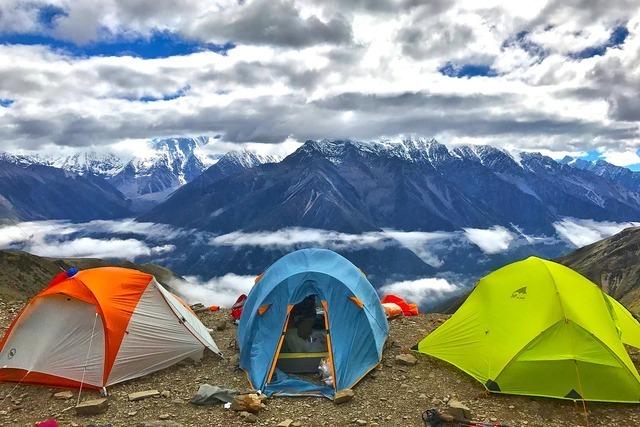 カラフルのテント