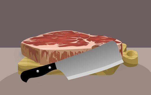 お肉を切るイメージ画像