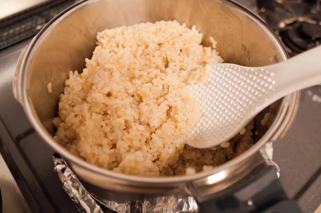 鍋で炊いた玄米