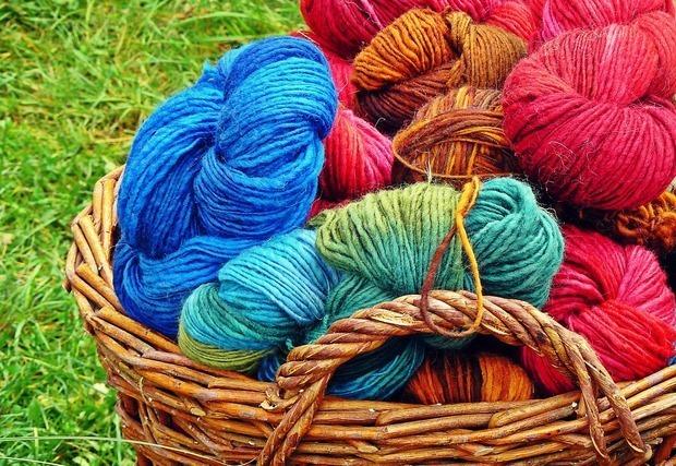 鮮やかな毛糸