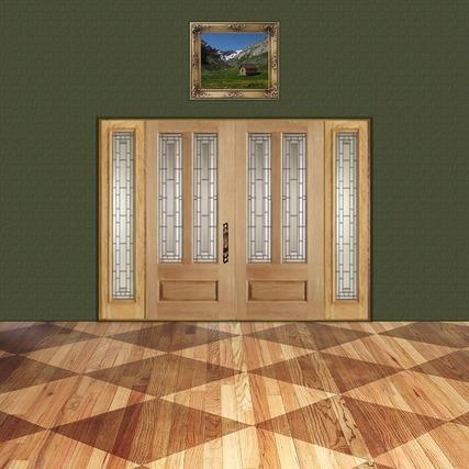 ひし形模様の床