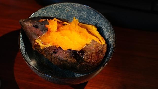 オレンジの焼き芋