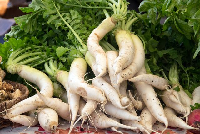 積まれた野菜