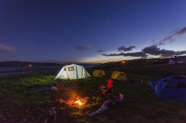 キャンプ中の様子