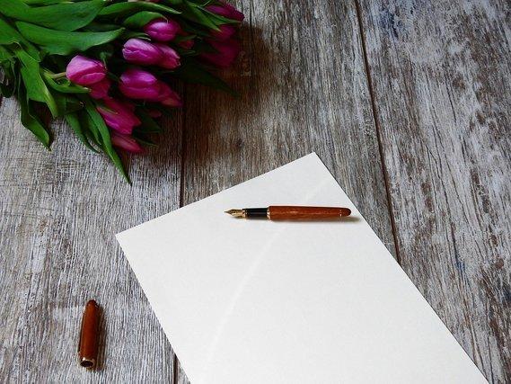 チューリップと手紙