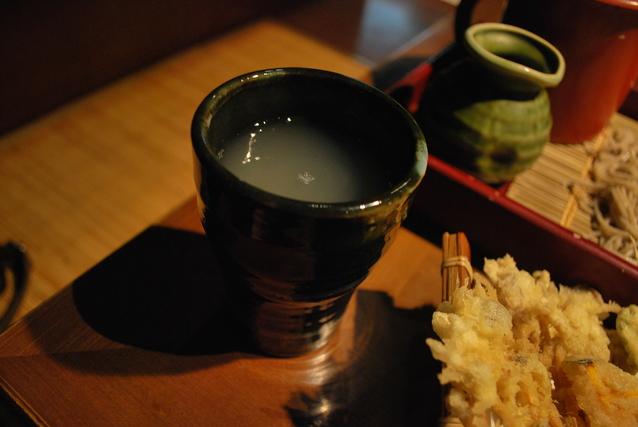 天ぷらと蕎麦湯