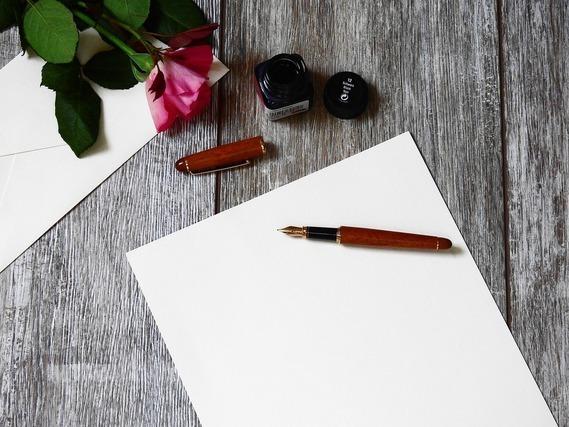 便箋と万年筆