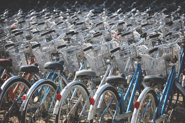 たくさんの自転車