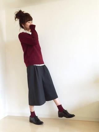 シャツ×セーター