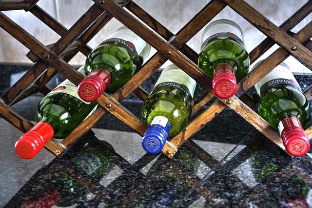 格子型のワインラック