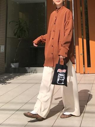 タックバンドカラーシャツジャケット