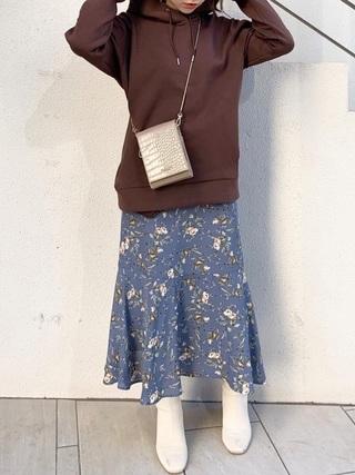 裾切替マーメイドスカート