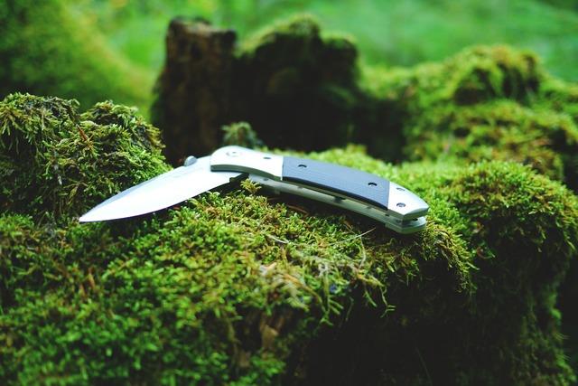 折りたたみ式のナイフ