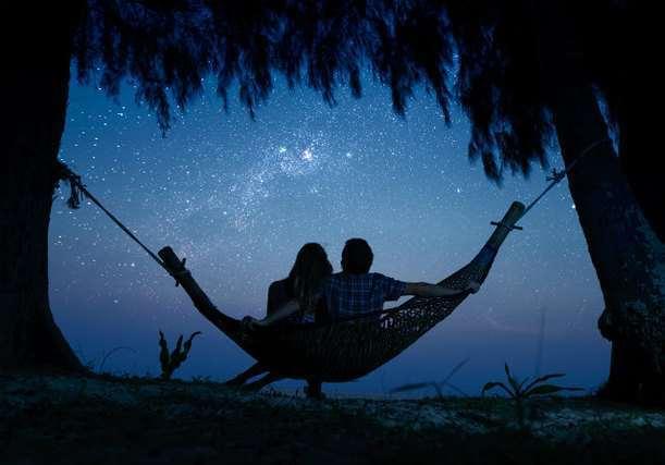 恋人と星空
