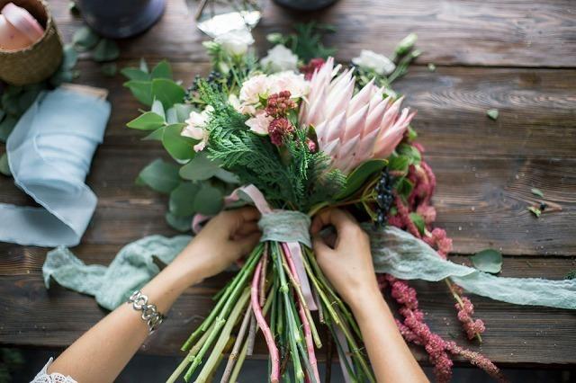 手作りの花束