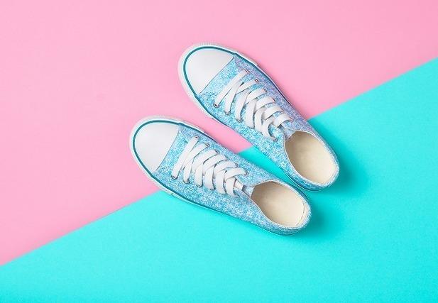 パステルカラーの靴