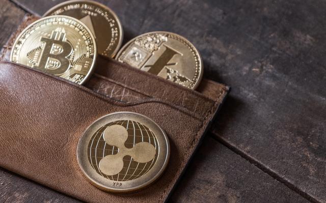 茶色い財布とコイン