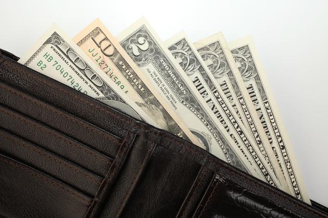黒財布とお札