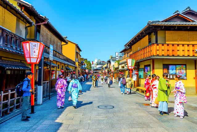 昔の日本の町並み