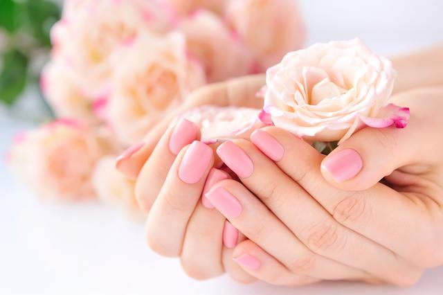 花を包み込む手
