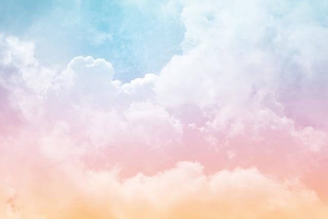 パステルの雲
