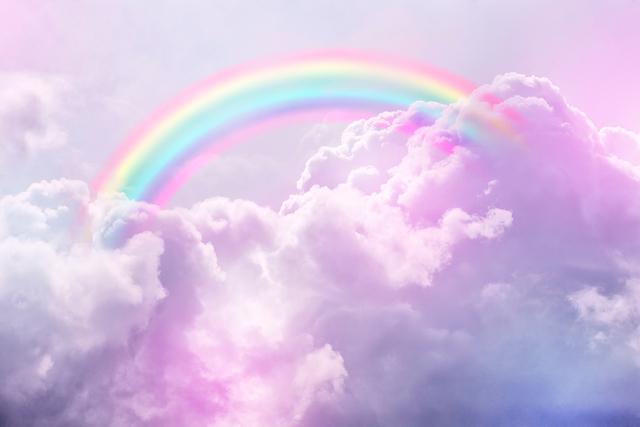 空にかかる虹