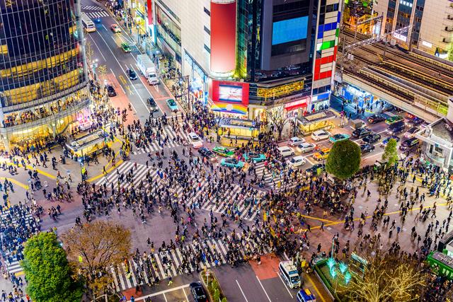 たくさんの人が集まる渋谷