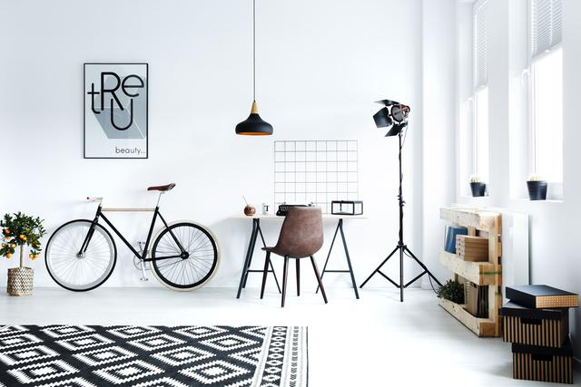 自転車をお部屋に置いて