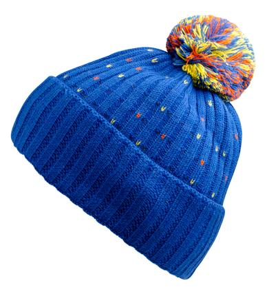 ブルーでかわいいニット帽